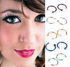 10Pcs 8mm Small Thin Surgical Steel Open Nose Ring Hoop Piercing Stud Gift