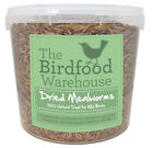 Norfolk Feeds Dried Mealworms - Premium Quality Wild Bird Food - Treat Tub, Worm <br/> Sizes 1ltr, 2.5ltr, 5ltr, 10ltr | Refill Bags Available
