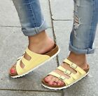 Birkenstock Florida Fresh Sandale VEGAN 1016642 normal brushed vanilla gelb