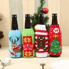 Christmas Knitted Sweater Lid Hat Wine Bottle Cover Wrap Bag Xmas Decor Mp
