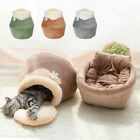 Pet Cat Cave Bed Igloo Nesting Bed Whelping Kennel Crate Toys Tear Resistant