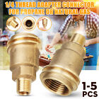 QCC1 Connection 1/4'' Male Pipe Thread Propane Gas Fitting Adapter   P h