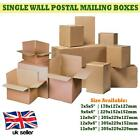SINGLE WALL POSTAL MAILING BROWN SHIPPING PARCEL CARDBOARD BOX SMALL LARGE SIZES