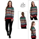 Season Greetings Novelty Matching Womens Cracking Christmas Jumpers Xmas Sweater