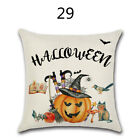 UK Fall Halloween Pumpkin Pillow Case Waist Throw Cushion Cover Sofa Home Decor