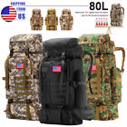 80L Large Outdoor Military Tactical Rucksack Hiking Camping Backpack Daypack Bag