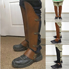 Medieval Men Shoe Covers Armor Leg Protector Leather Wrap Knight Rivet Cosplay