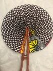 Hand Fan - Ankara/Kente Print Fabric - Hand Made - CuratedByMJ