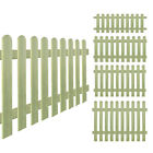 Picket Fence FSC Impregnated Pinewood Panels Closeboard Fencing Garden Edging