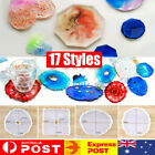Agate Coasters Resin Casting Mold Silicone Jewelry Making Epoxy Mould Crafts Diy