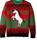 Blizzard Bay Mens Dark Unicorn Ugly Christmas Sweater Size XL