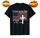 I Stand for the Flag, I Kneel at the Cross Patriotic Christian T-Shirt