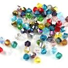 100pcs Crystal Glass Faceted Loose Spacer Beads Lot Jewelry 4mm 3mm Diy S2r9