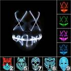 LED Wire Light Up Neon Stitches Mask Halloween Costume Cosplay Party Fancy Props