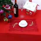 Christmas Hollow Embroidery Bell Placemat Table Runner Tablecloth Holiday Red