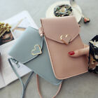 Women Girl Leather Small Crossbody Shoulder Mobile Phone Pouch Bag Coin Purse