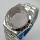 fit NH35 NH36 Automatic Polish Watch Case Oyster Strap Seeing Back Screw Crown