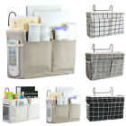 Bedside Caddy Hanging Storage Bag Pocket Wall Holder Couch Container Saver NEW