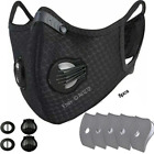 Face Mask Washable Reusable Anti Pollution PM2.5 one/two Air vent With Filter UK