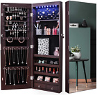 Nicetree 8 Led Mirror Jewelry Cabinet, Jewelry Armoire Organizer With Full Scree