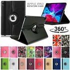 'Leather 360 Rotating Smart Case Cover For Apple Ipad Air Pro Mini 9.7 10.2 2020