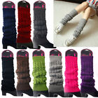 Women Winter Warm Leg Warmers Cable Knit Ladies Knitted Socks Leggings Crochet