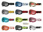 100% STRATA 2 Goggles -ALL COLORS- Offroad MX MTB Motocross - CLEAR LENS