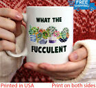 What The Fucculent Mug with colour inside, Exotic Plant Lover Gift, Coffee Cu...