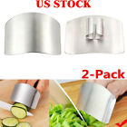 2x Kitchen Finger Hand Protector Guard Stainless Chop Slice Shield Cook Tools US
