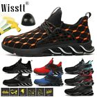 Mens Steel Toe Midsole Work Boots Labor Safety Shoes Indestructible Construction