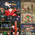 Christmas Santa Claus Removable Window Stickers Xmas Decal Wall Home Shop Decor