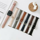 Genuine Leather Apple Watch Band Strap Iwatch Series Se 6 5 4 3 2 42/44mm 38/40