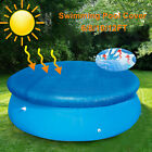 6/8/10/12ft Swimming Paddling Pool Cover Tarp Inflatable Rainproof Frame w/Rope