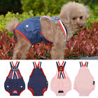 Dog Cat Diapers Washable Reusable Sanitary Panties with Suspender Denim Cloth