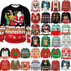 Christmas Unisex Couple Matching Xmas Jumper Knitted Sweater Pullover Ugly Top(