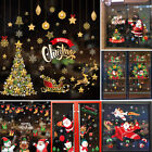 Santa Claus Window Wall Stickers Festival Decals Xmas Party Home Decor Christmas