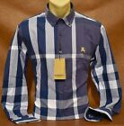 Brand New With Tags Men`s BURBERRY Long Sleeve Shirt Size M- L- XL- 2XL