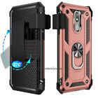 For LG Tribute Empire/Dynasty Case Belt Clip Holster Phone Cover With Kickstand