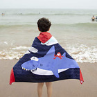 Wowelife Kids Beach Towels for Boys Shark Kids Hooded Bath 100% Cotton Blue/Red/
