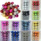 Christmas Glitter Baubles Xmas Hanging Balls Trees Ornaments Decorations Lovely