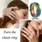 Rotatable 'chain Of Strength' Lgbtq Pride Ring Hot H6s2