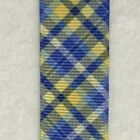 Preppy blue yellow Plaid Grosgrain ribbon BTY 7/8""