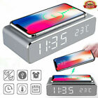 WIRELESS CHARGING QI DIGITAL LCD ALARM CLOCK | Charging Pad For iPhone Y1X3