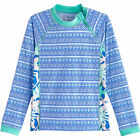 Coolibar UPF 50+ Girl's Wavechaser Zippy Rash Guard