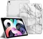 For iPad Air 4th 10.9'' 2020 Case Slim Shell Frosted Back Cover w/ Pencil Holder