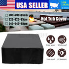 3 Size Hot Tub Spa Cover Cap Guard Outdoor Waterproof Dust Protector Case Bag