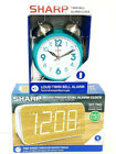 *NEW* SHARP Alarm Clocks MULTIPLE Styles & Options To Choose From SHIPS FAST B3