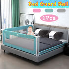 "79"" Adjustable Infant Bed Guard Rail Toddler Baby Safety Barrier Protection US"