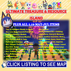 May Day-Jul/ 1.10 Animal Crossing Treasure Island Unlimited Trips! Catalog/ Loot