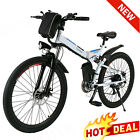 26INCH Electric Bike Folding Mountain Bicycle City E-Bike Shimano 21Speed